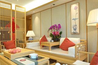 220平新中式风格四居沙发图片