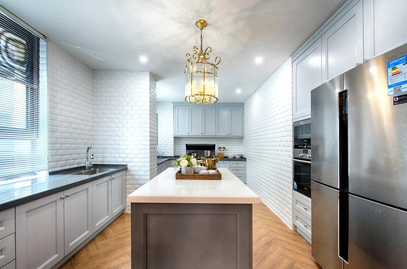 260平美式复式楼整体厨房装修