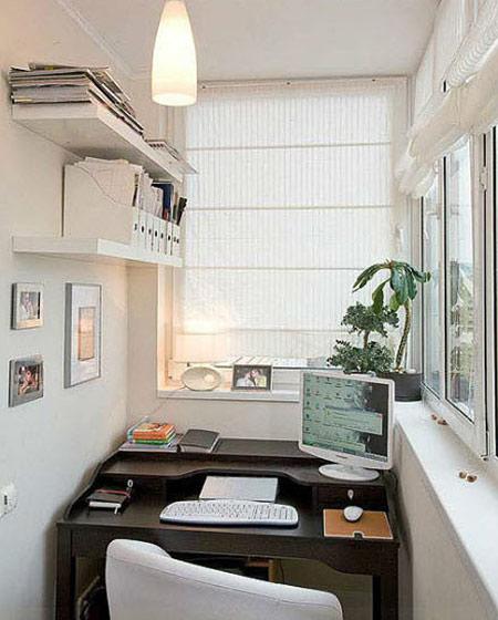 小户型阳台书房设计图