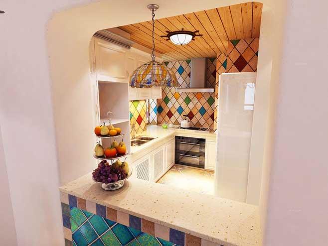 地中海风格厨房装修装饰效果图