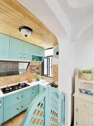 地中海风格厨房设计实景图