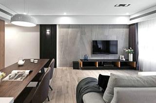 简约风格三居室装修电视柜图片