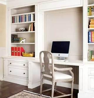 美式家庭小书房效果图