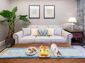 89平美式风格三居室装修 脱俗雅致的自然家