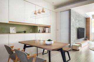 100平北欧风格装修餐厅效果图