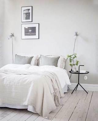 北欧风卧室地板铺设图