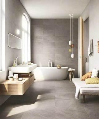 浴室布置设计装饰图