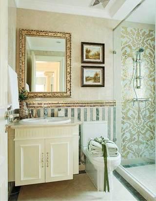 美式风格浴室背景墙图片