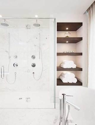 浴室收纳搁板欣赏图