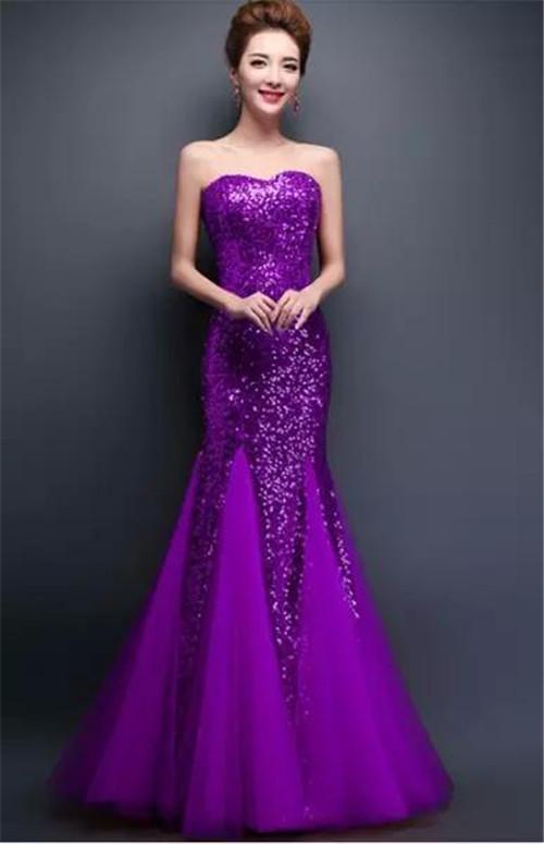 紫色婚纱照图片大全 紫色新娘婚纱赏析