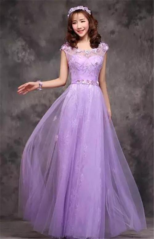 紫色婚纱照图片大全 紫色新娘婚纱赏析_婚纱礼服_婚庆