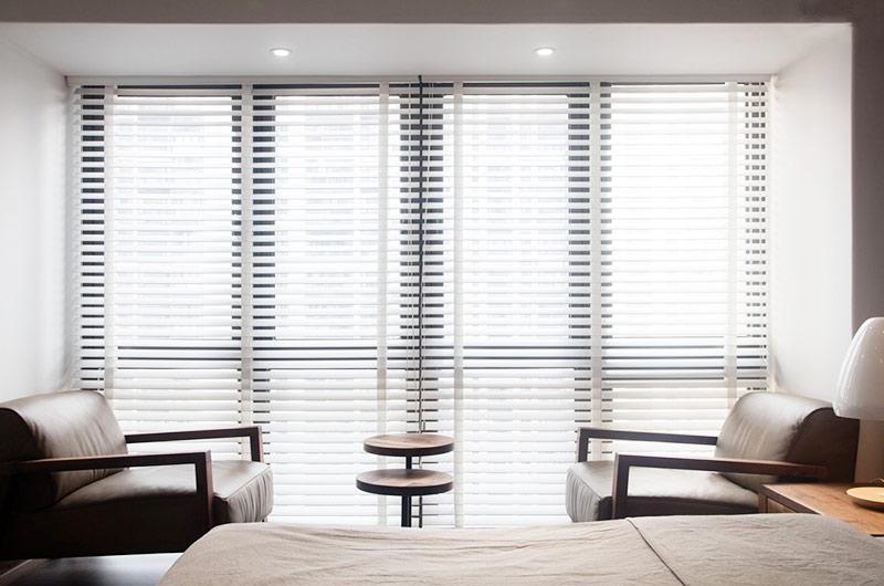 130平简约风格公寓卧室落地窗设计