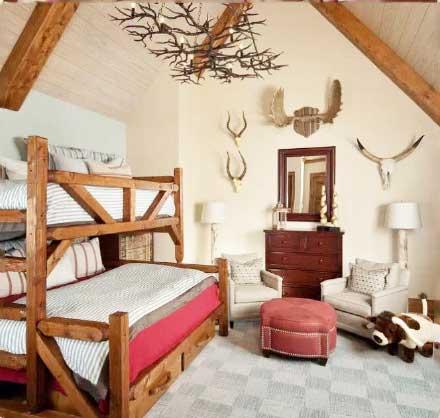 卧室高低床设计图片