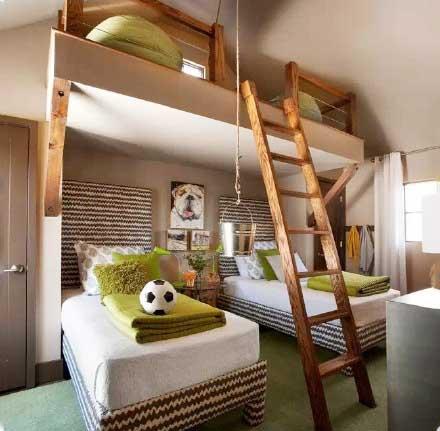 卧室高低床设计实景图