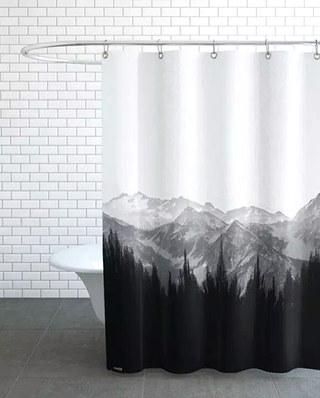 北欧风格布艺浴帘设计图