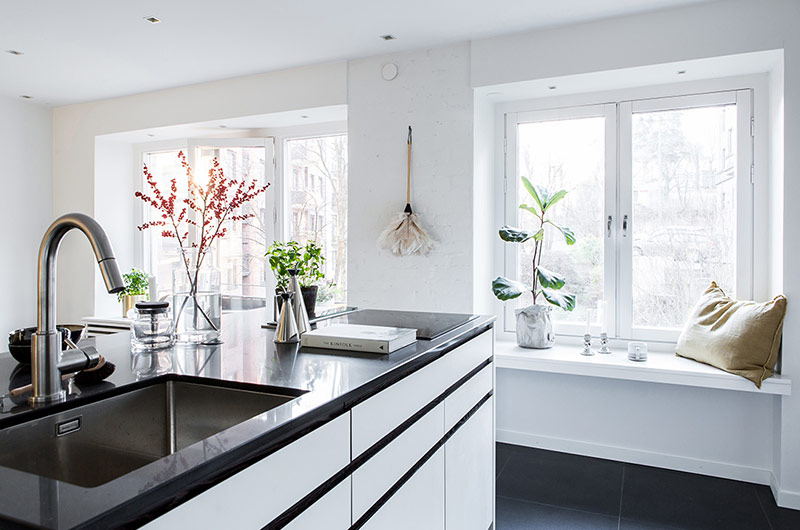 北欧风格一居室装修飘窗装修设计