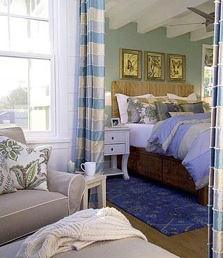 客厅卧室布帘隔断装饰图