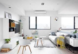 北欧风三居室公寓客厅图片
