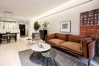 110平简约风格公寓布艺沙发图片