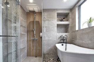 190平现代风格三居浴缸效果图