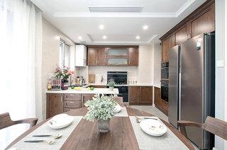 135平混搭风格公寓餐厨一体装修
