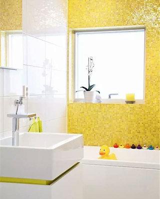 小户型浴室黄色瓷砖装修