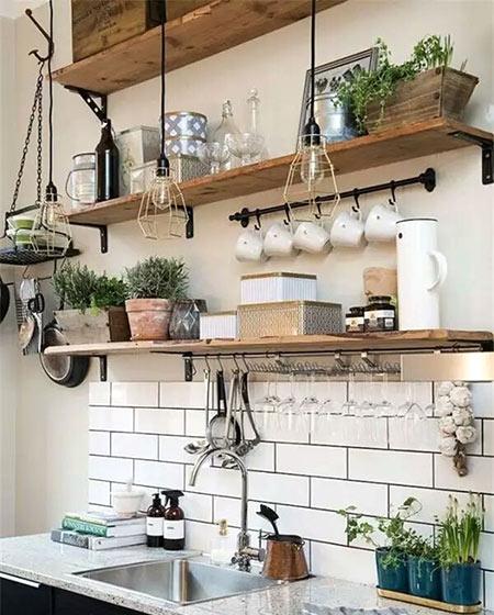 小户型厨房装修收纳设计