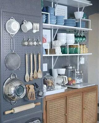 小户型厨房收纳背景墙装修