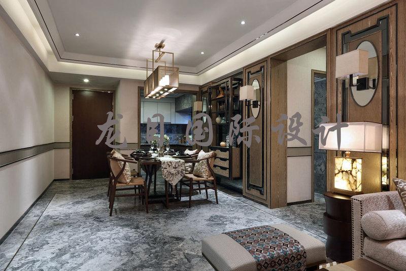 20万以上120平米混搭三居室装修效果图,新中式与现代图片