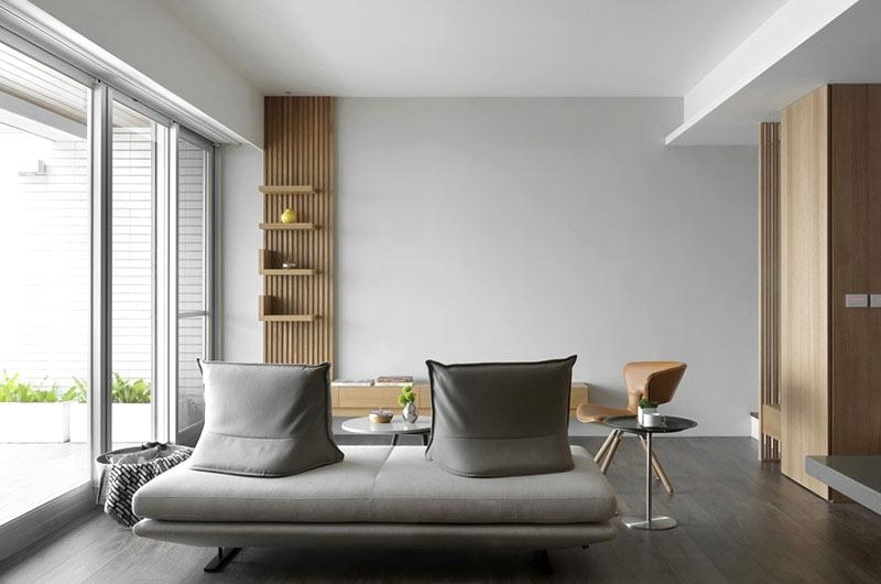 84平小复式装修布艺沙发设计