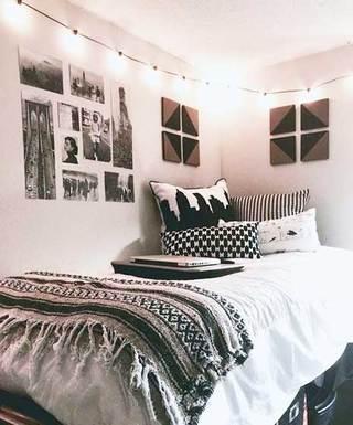 出租屋卧室布置摆放图
