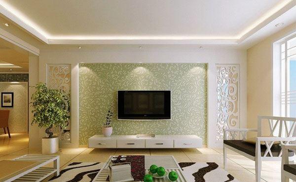 电视背景墙硅藻泥图片