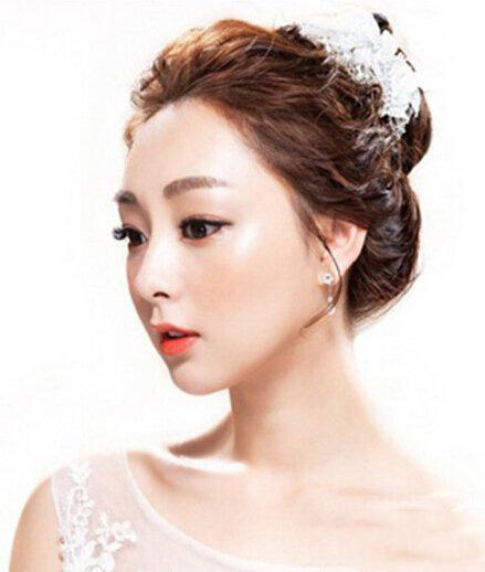新娘简单发型图片大全 不同身型的新娘如何打造发型