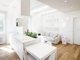 70㎡极简风一居室效果图  新婚公寓