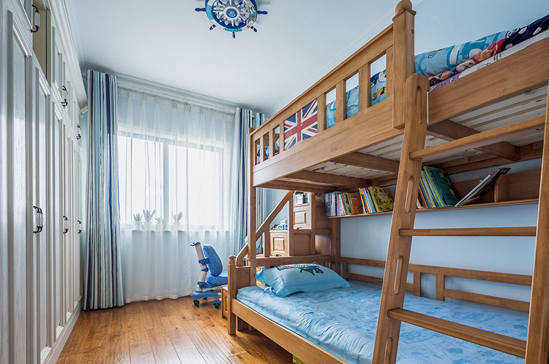 135平美式风格四居儿童房装修