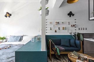 小户型loft装修卧室客厅隔断图