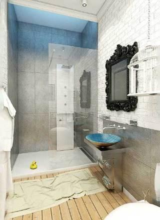 简约风浴室装修摆放图