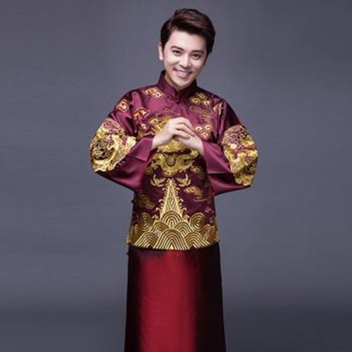 长沙秀禾服出租推荐几款新郎中式婚礼礼服