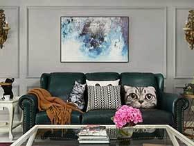 现代美式两居室效果图  猫猫的世界
