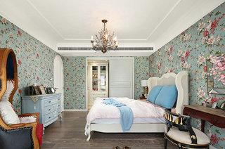 美式风格婚房装修卧室壁纸设计图