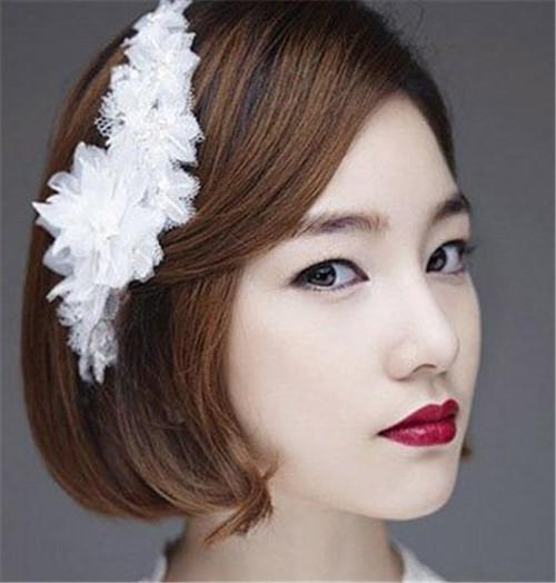 短发韩式新娘发型图片 短发怎么做新娘发型好看