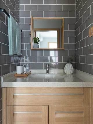 简约风单身公寓洗手池构造图
