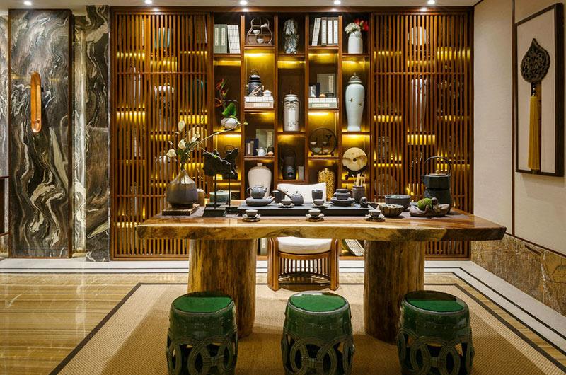 300平东南亚风格别墅茶室装修设计
