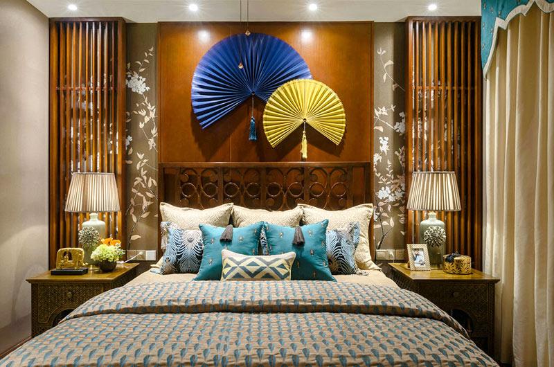 300平东南亚风格别墅主卧室装修