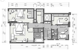 新古典风格复式楼平面布置图