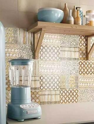 厨房小花砖装修装饰效果图