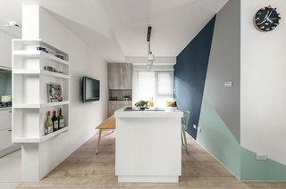 北欧风格公寓装修厨房吧台设计