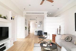 美式两居室客厅效果图