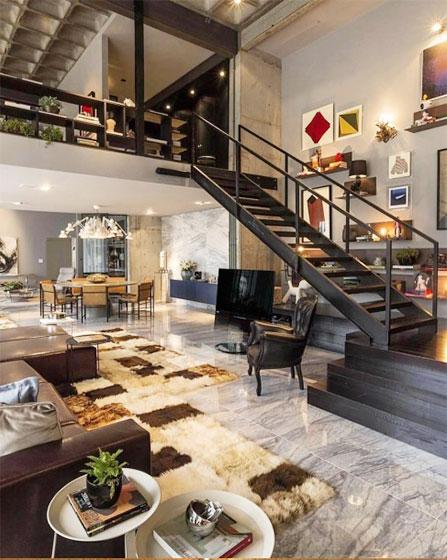 现代风loft公寓效果图
