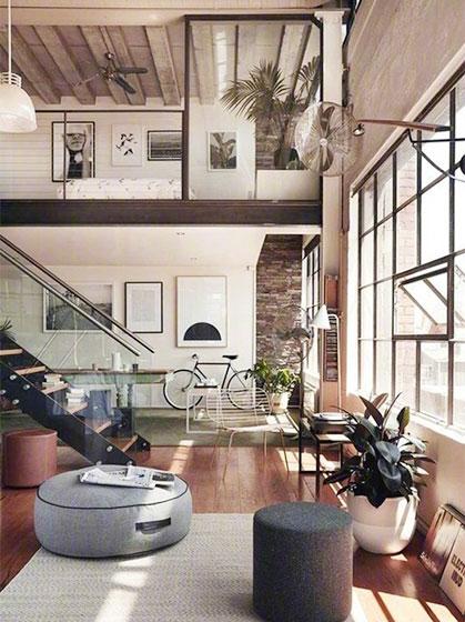 现代风loft公寓设计实景图